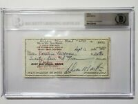 DEAN MARTIN SIGNED AUTOGRAPHED CHECK RARE! ENCAPSULATED BECKETT BAS