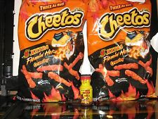 2 Bags of Xxtra Flamin' Hot Cheetos 8 oz & 1 Bottle Habanero Hot Sauce From Hell