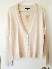 NWT!! American Eagle AE Women's Beige Brown Boyfriend Cardigan Sweater - Large