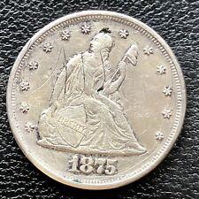 1875 Twenty Cent Piece 20c P Philadelphia RARE Silver High Grade AU Det. #18424