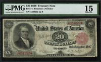 1890 $20 Treasury Note FR-374 - Graded PMG 15 - Choice Fine