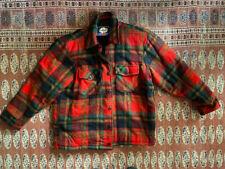 Clean Vintage 50's Carter'S Wool plaid work chore Jacket 44-46 Railroad shirt