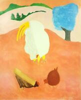 White Rooster by Milton Avery (Museum Quality, 68.5cm x 96.5cm)
