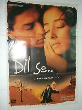 DIL SE 1998 Shah Rukh Khan Manisha Koirala Preity Zinta  Rare Poster Bollywood