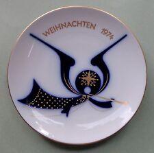 KPM BERLIN Modern Art Design WEIHNACHTSTELLER 74 CHRISTMAS PLATE ANGEL MUSICIAN