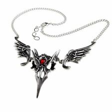 Alchemy Gothic Masque Of The Black Rose Necklace Pendant - Masquerade Pewter