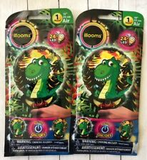 "Lot of 2 Illooms Dinosaur Light Up Balloon 10"" 24 hr Led bday party decor dino"