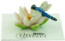 ➸ LITTLE CRITTERZ Insect Miniature Figurine Dragonfly on Water Lily Bluet