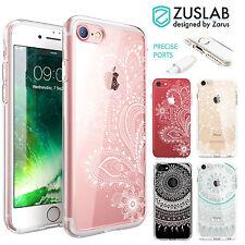 iPhone 8 7 Plus Case For Apple Zuslab Hybrid Clear Mandala Paisley Flower Cover