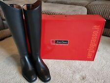 Sergio Grasso Napoli Italian Leather Long Riding Boots, Size EU 41 UK 7