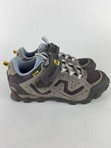 Mavic Zoya Women's Grey Mountain Bike Trail Cycling Shoes Size 6.5
