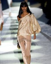 SKIN'S RARE GUCCI BY TOM FORD SS 2004 NUDE BLUSH SILK RUCHED PANTS TOP ENSEMBLE