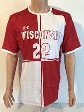 NEW Wisconsin Badgers Under Armour Soccer Authentic Jersey Men's Large NCAA