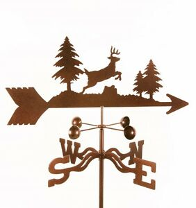 Jumping or Leaping Deer Weathervane Whitetail? Mule? Buck with Choice of Mount