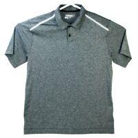 Nike Golf Men's Tour Performance Dri Fit Short Sleeve Heather Gray Polo Shirt L
