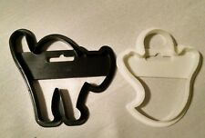 Halloween Cookie Cutters Retro 1991 Wilton Cat Ghost Plastic