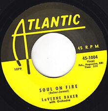 "LAVERN BAKER Soul On Fire ATLANTIC Re. 7"" 45 1953 2 sided Uptempo R&B Mover HEAR"