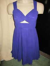 BNWT Lipsy Pixie Lott Dress UK 8 Purple Cut Out Low Back Chiffon Party Wedding