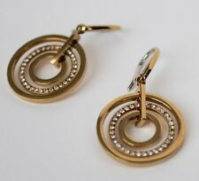 Michael Kors MK  Brilliance Statment Circle Gold Pave Drop Earrings Jewelry
