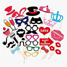 Photo Booth DIY Mask Mustache Stick Props Wedding Birthday Xmas Party gift 31PCS