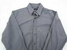 Level Ten Men's Long Sleeve Button Down Shirt Blue Gray XXL