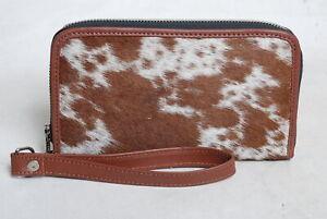 Cowhide Wallet for Women Zip Clutch Purse Clutch Wristlet Wallets  SA-3374