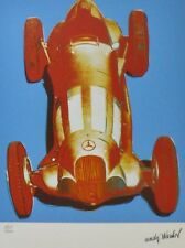 ANDY WARHOL MERCEDES W125 red SIGNED HAND NUMBERED 603/1000 LITHOGRAPH RACE CAR