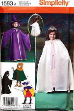 Simplicity Sewing Pattern 1583 Girl/boy 3-8 Cape Cloak Tabard Hat Wizard Costume