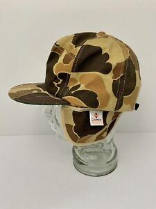 Vintage Gore-Tex Camo Hat Columbia L-XL Cap Waterfowl Old School Ear Flaps USA