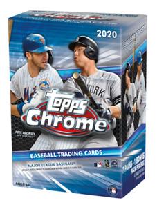 2020 TOPPS CHROME BASEBALL CARD BLASTER BOX BRAND NEW FACTORY SEALED