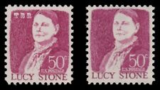 1293 1293a Lucy Stone 50c Prominent Americans Tag Variety Set of 2 MNH - Buy Now