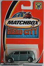 Matchbox – VW microbus Hell metalizado azul de colores 2 nuevo/en el embalaje original us-Card