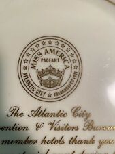 1984 Miss America Pagent Special Guest Thankyou Plate Atlantic City
