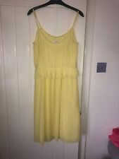 Monsoon Size 10 Yellow Pleated Dress Bnwt