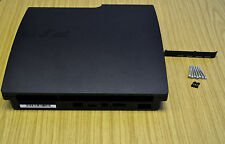 Black Full Housing Shell Case Cover For PlayStation 3 PS3 Slim CECH-2503A/B