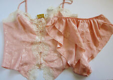 NWT Victoria's Secret VINTAGE Floral Satin Sleepwear Shorts Cami Lingerie LARGE