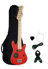 "Raptor 30"" 1/2 Size Kid's Electric Guitar Pack - Red with Built In Speaker"