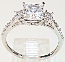 14k solid Real gold RING White manmade Diamond Engagement Princess Round 7 6 8