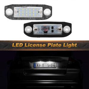 For Volvo XC90 V70 XC60 S80 V50 S80 LED License Plate Lights 6500K Diamond White