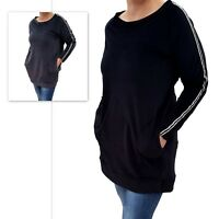 Wolfairy Womens Plus Size Top Tunic Spring Velvet Striped Long Sleeve
