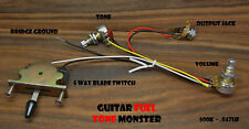 TONE MONSTER Guitar Wiring Harness 5W/1V/1T/J 5 Way Blade Switch Volume Tone