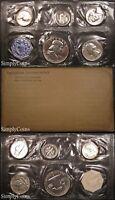 1957 Proof Set ~ Flat Pack Original Envelope ~ US Mint Silver Coins MQ