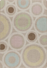 "2x8 Milliken In Focus Pastel Modern Circles Retro Area Rug - Approx 2'1""x7'8"""