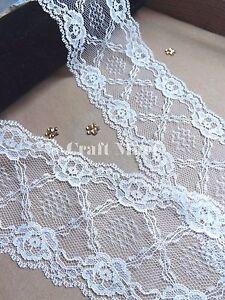 VINTAGE Ivory LACE RIBBON TRIM 75mm WIDE BRIDAL CRAFTS wave edge wedding dress