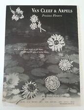 1958 Van Cleef & Arpels precious flower pin brooch jewelry vintage ad