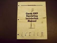 Genie AWP Operating Instruction Manual 27871