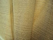 "Vintage pale yellow sheer imported French Tergal textured sheer 118"" wide 4 yds"