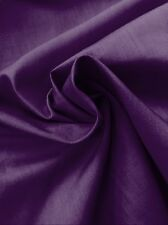 "Purple Plain Poly Cotton Fabric - Dress Making Lining- By Meter - 44""/112cm Wide"