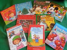 Lot of 8 Children's Christmas Books: Mickey*Rugrats*Disney Doc*Santa Mouse*Snow