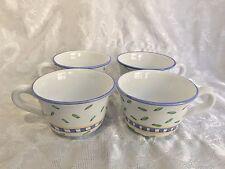 Williams Sonoma Italy TOURNESOL Coffee Cups Mugs Set of 4